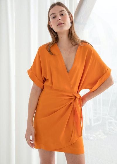 Kimono Wrap Mini Dress