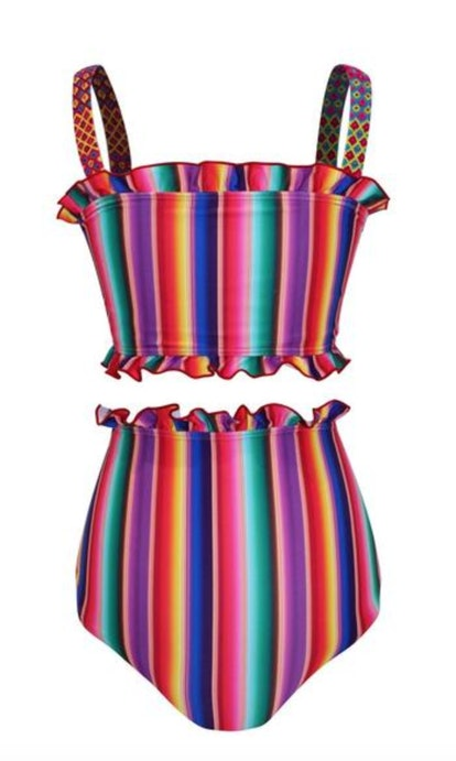 Louise Two Piece Swimsuit in Rainbow