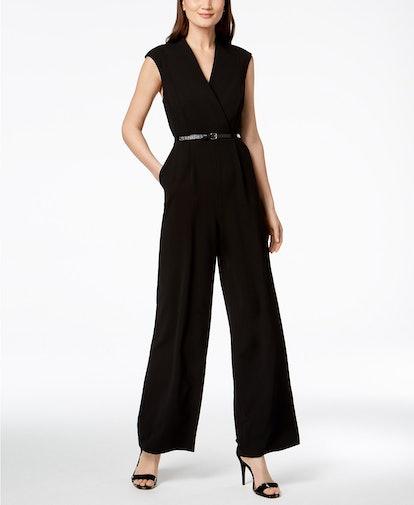 Belted Wide-Leg Jumpsuit