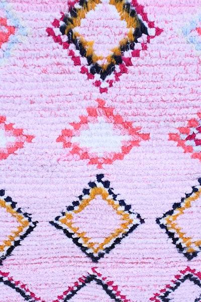 Pink Boucherouite Rug