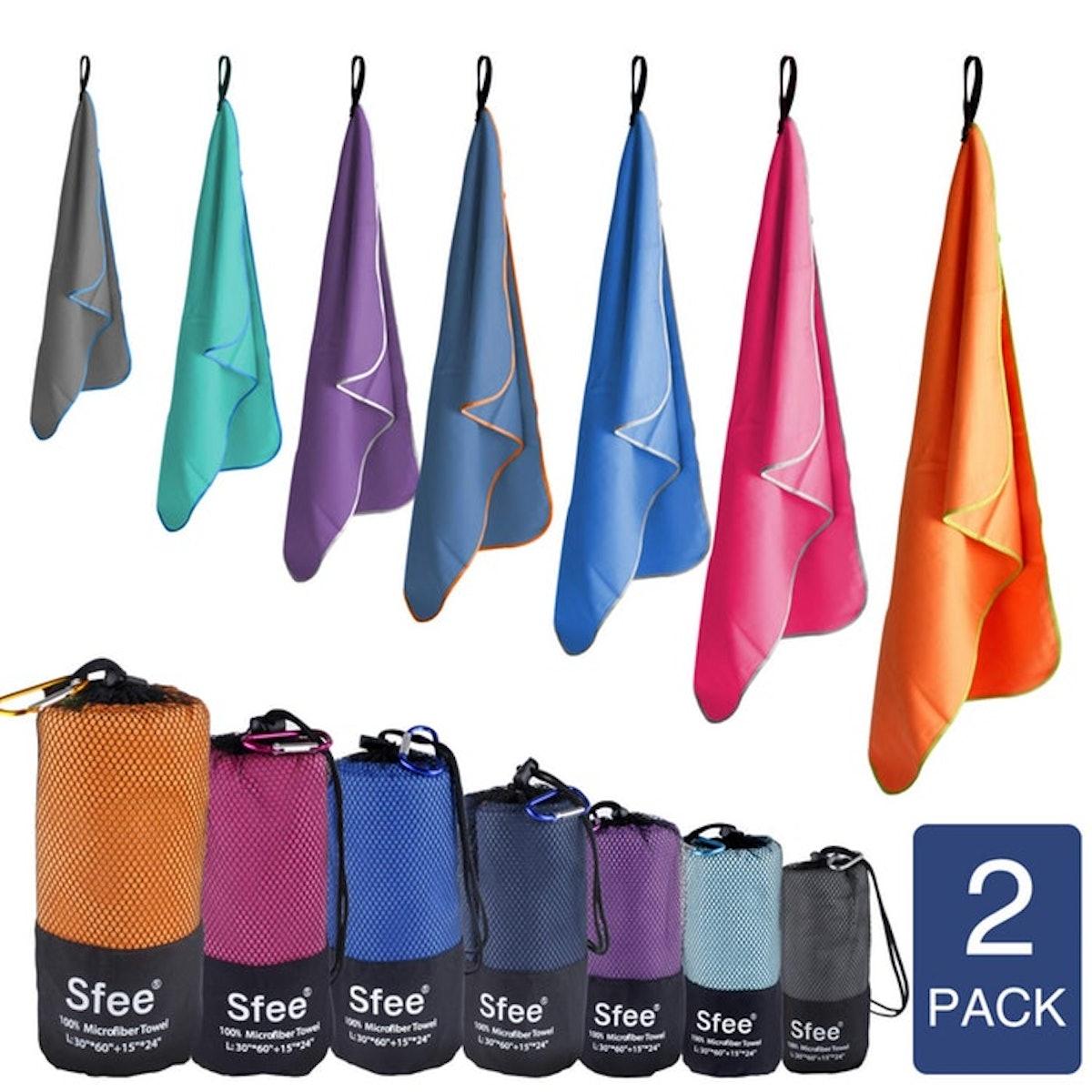 Sfee Travel Towel (2 Pack)