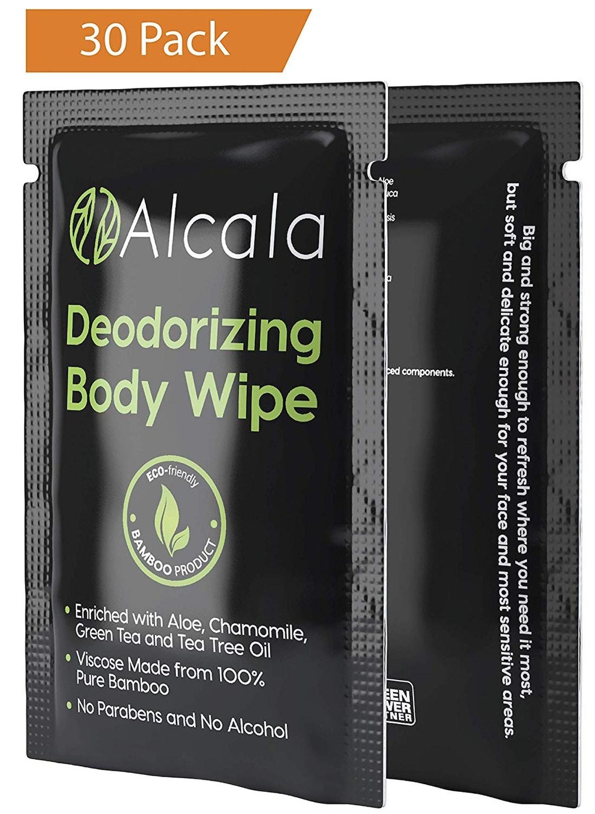 Alcala Deodorizing Body Wipes (30 Pack)