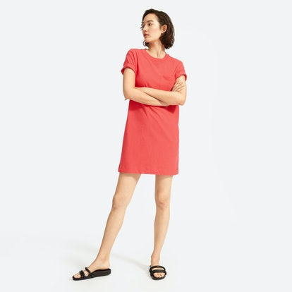 The Weekend Tee Dress - Tomato