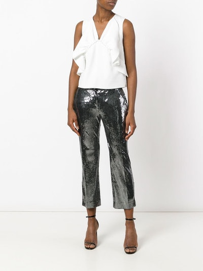 Sequinned Cropped Trousers