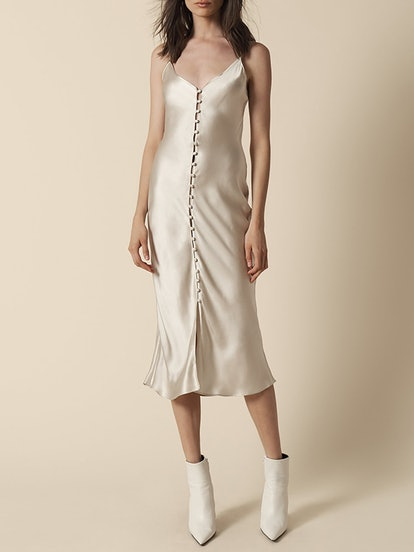 Carla Covered Button Slip Dress