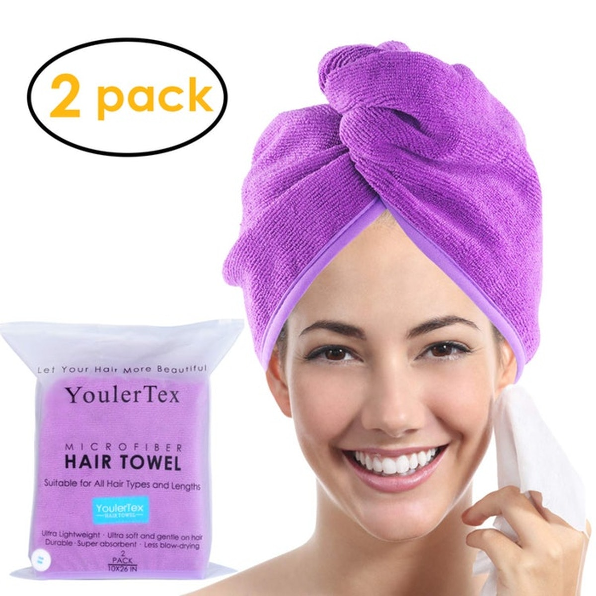 YoulerTex Hair Wrap (2 Pack)