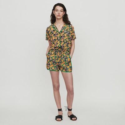Pajama-Style Printed Shirt