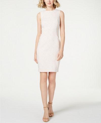 Zigzag Jacquard Sheath Dress