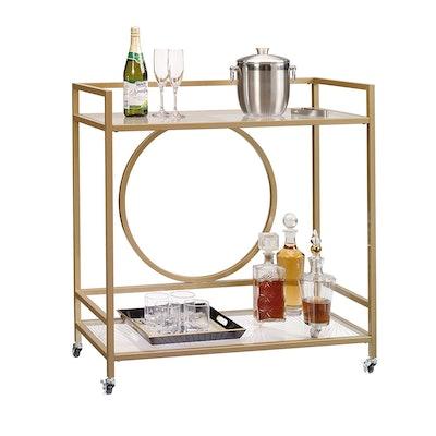 Sauder 417828 International Lux Bar Cart