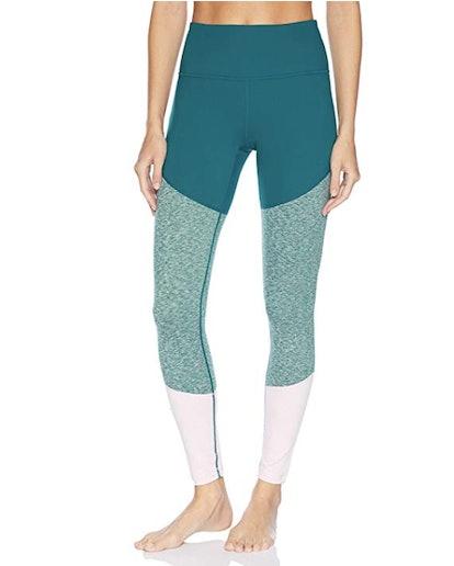 Core 10 Women's Bold Color Block High Waist Yoga Full-Length Legging