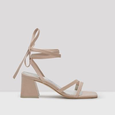 Quima Creme Leather Sandals