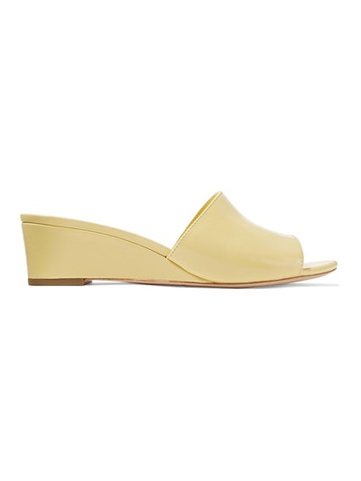 Tilly Patent-Leather Wedge Sandals