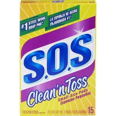 S.O.S. Clean 'n Toss Steel Wool Soap Pads