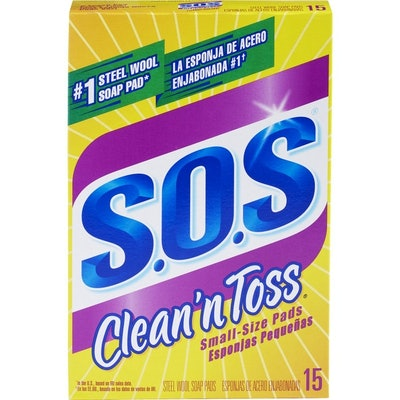 S.O.S. Clean 'n Toss Steel Wool Soap Pads