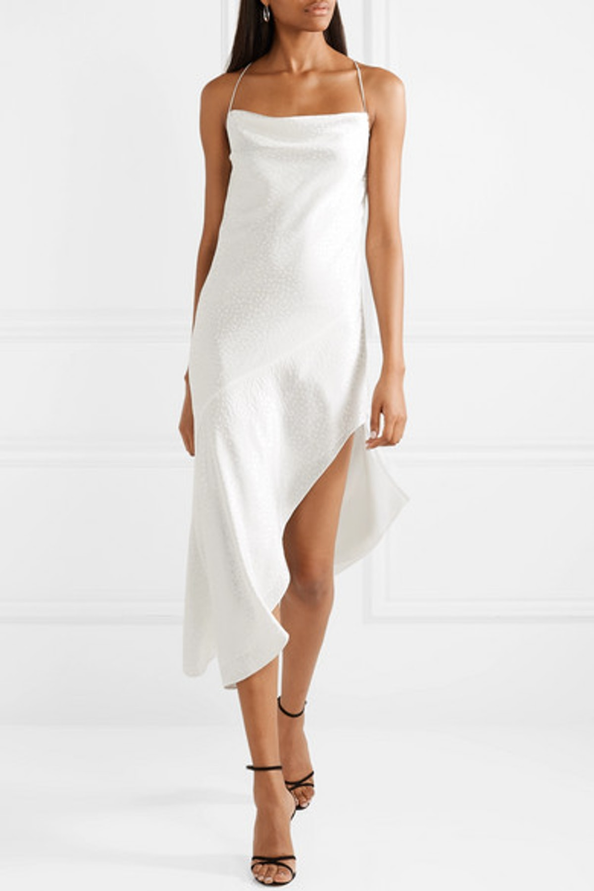Hanne Silk-Satin Jacquard Midi Dress