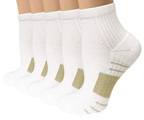 Sladory Copper Running Arch Support Ankle Socks (5 Pack)