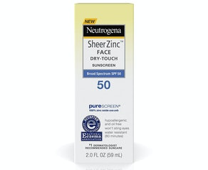 Neutrogena Sheer Zinc Oxide Dry-Touch Face Sunscreen SPF 50, 2 Oz.