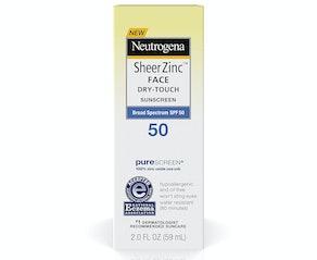 Neutrogena Sheer Zinc Oxide Dry-Touch Face Sunscreen SPF 50, 2 Oz.
