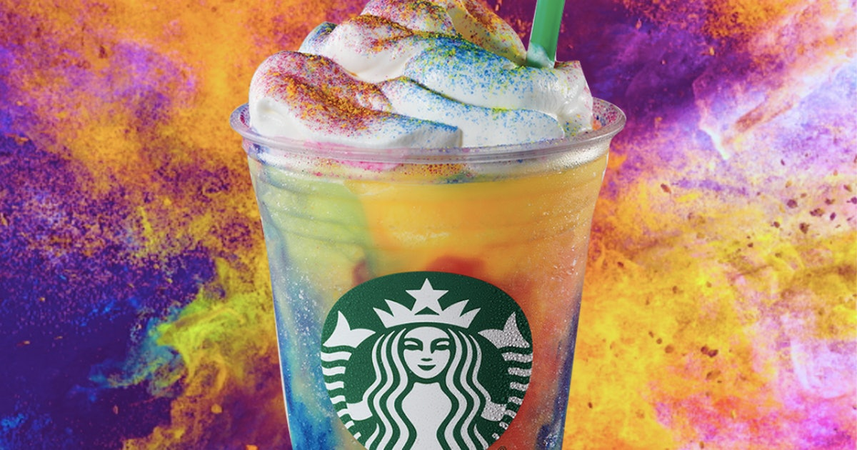 Starbucks' Tie-Dye Frappuccino Is Officially On The Menu For A Limited Time