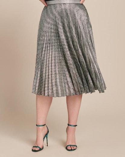 Lamé Mesh Skirt