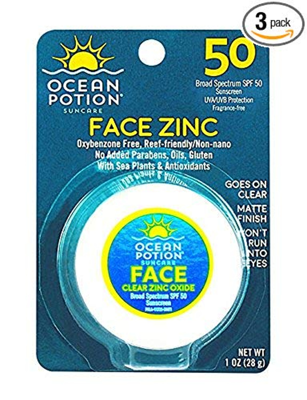 Ocean Potion Face Zinc SPF 50 (3 pack)