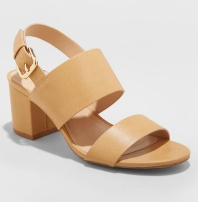 A New Day Haley Two Strap City Sandal Pumps