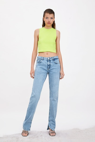 Cropped Top in Lime Green