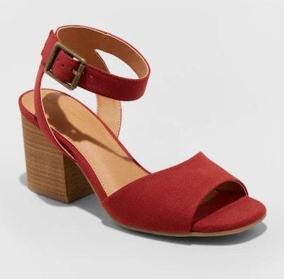 Universal Thread Megan Microsuede Quarter Strap Heeled Pump Sandals