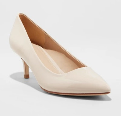 A New Day Dora Patent Kitten Pointed Toe Pump Heel