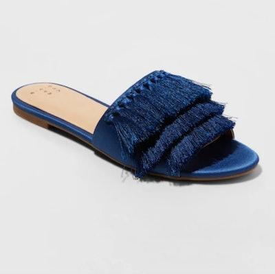 A New Day Benetta Tassel Slide Sandals