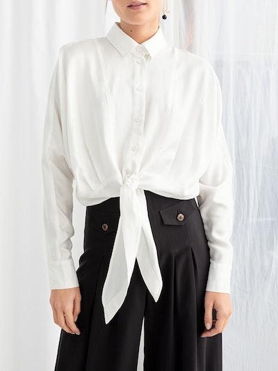 Front Tie Button Down