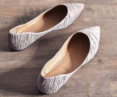 Meeshine Foldable Point-Toe Ballet Flats