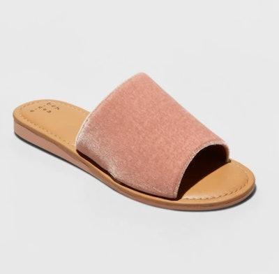 A New Day Dorathea Velvet Slide Sandals