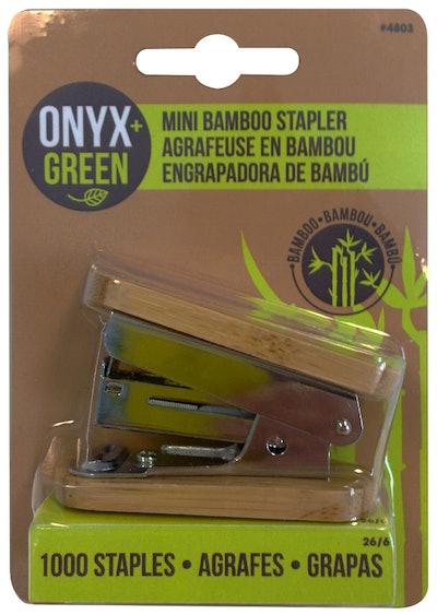 Mini bamboo stapler