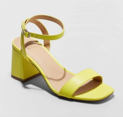 Wild Fable Panya Faux Leather Heeled Pumps