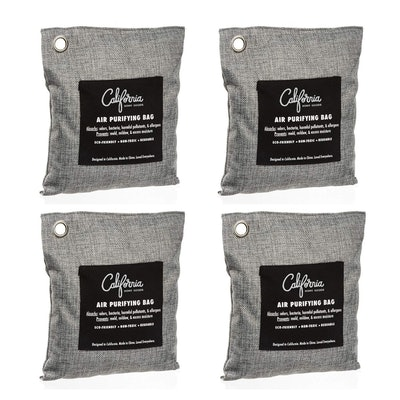 California Home Goods Bamboo Charcoal Air Purifying Bag (4-Pack)