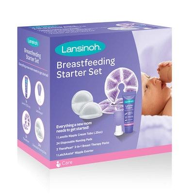 Lansinoh Breastfeeding Starter Set for Nursing Mothers
