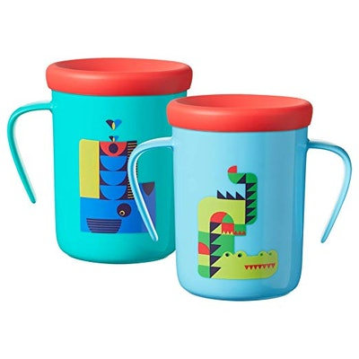 Tommee Tippee Easiflow 360 Degree Spill-Proof Toddler Cup with Handles and Travel Lid