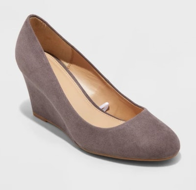 A New Day Dot Round Toe Wedge Pumps
