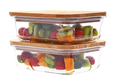 PANPRIDE Glass Meal Prep Containers (Set of 2)