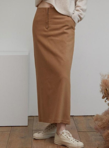Wool Camel Skirt