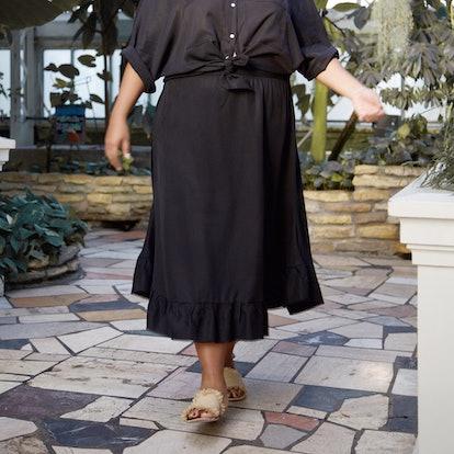 Flare Ruffle Skirt