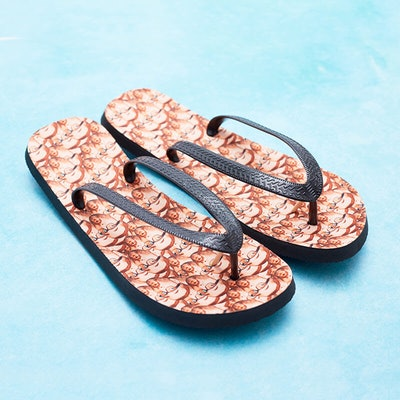 Personalised Photo Flip Flops
