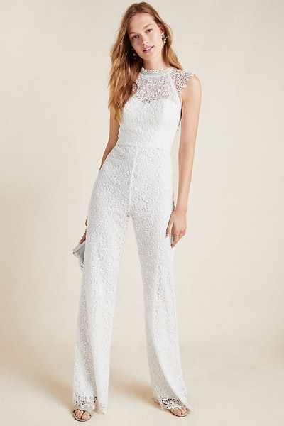 ML Monique Lhuillier Vesper Lace Jumpsuit