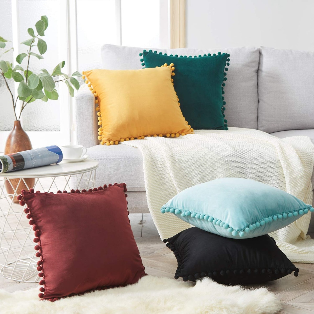 Top Finel Decorative Throw Pillow Covers (2 Pack)