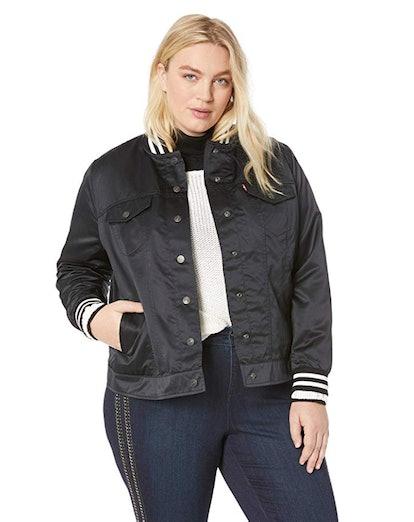 Levi's Women's Plus-Size Varsity Trucker Jacket