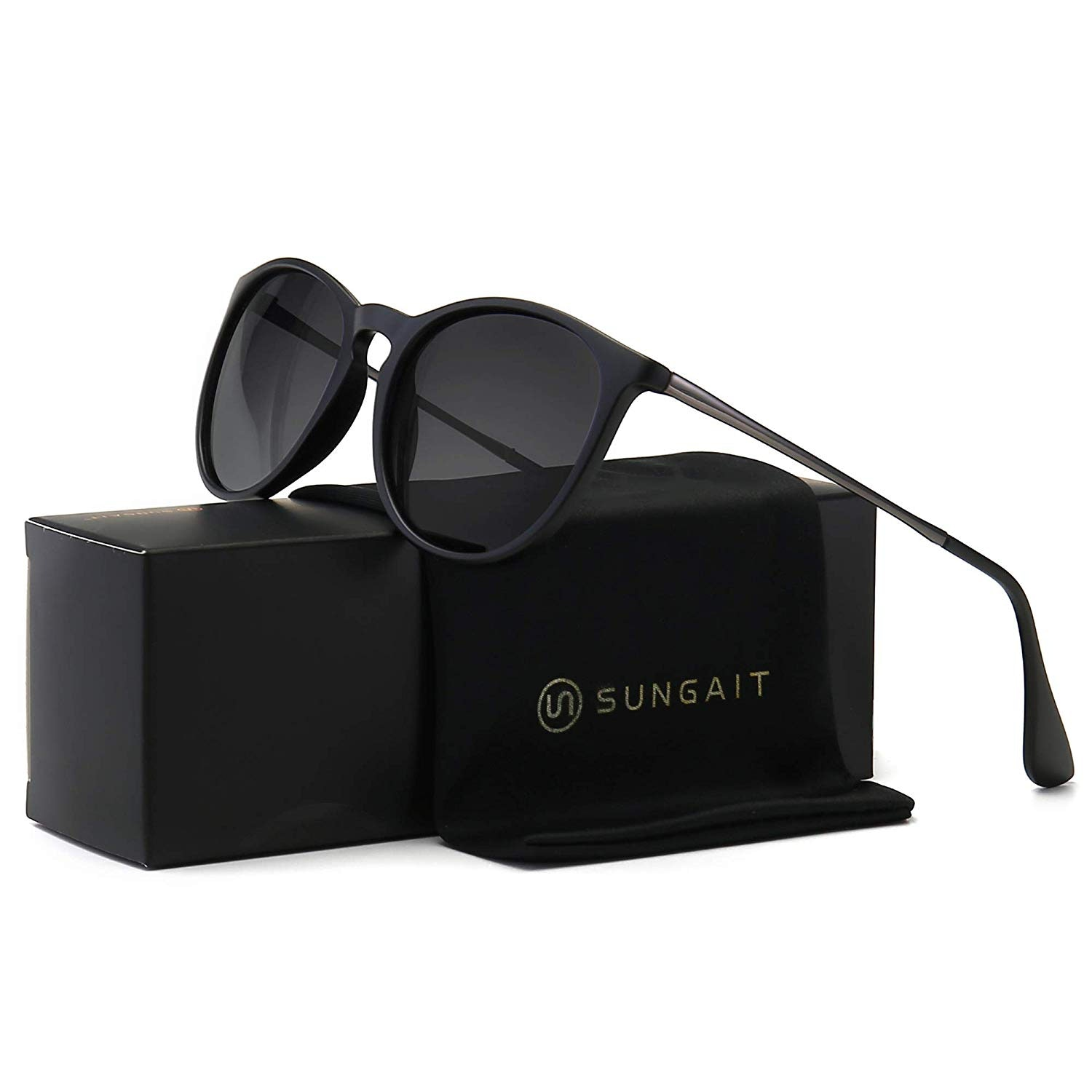 Classic Round Sunglasses for Women Simple Stylish Design 4 Colors New
