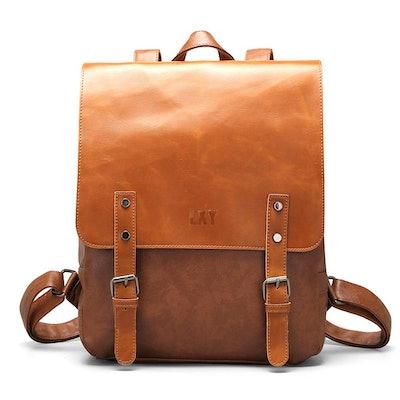 LYX Vegan Vintage Leather Laptop Backpack