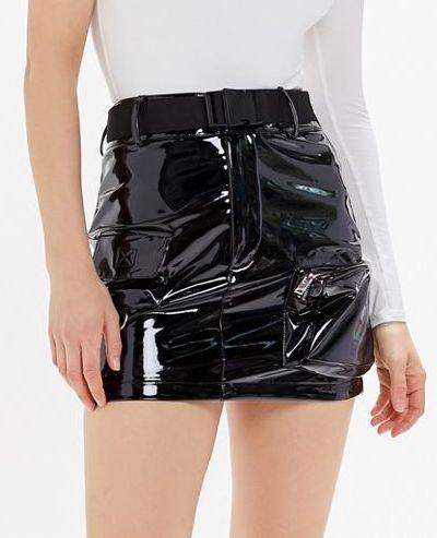 Edam Patent Utility Mini Skirt