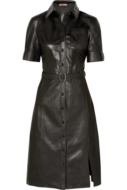 Kieran Belted Leather Dress